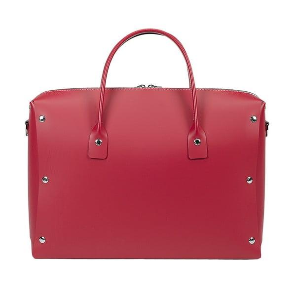 Kožená kabelka Serena Red