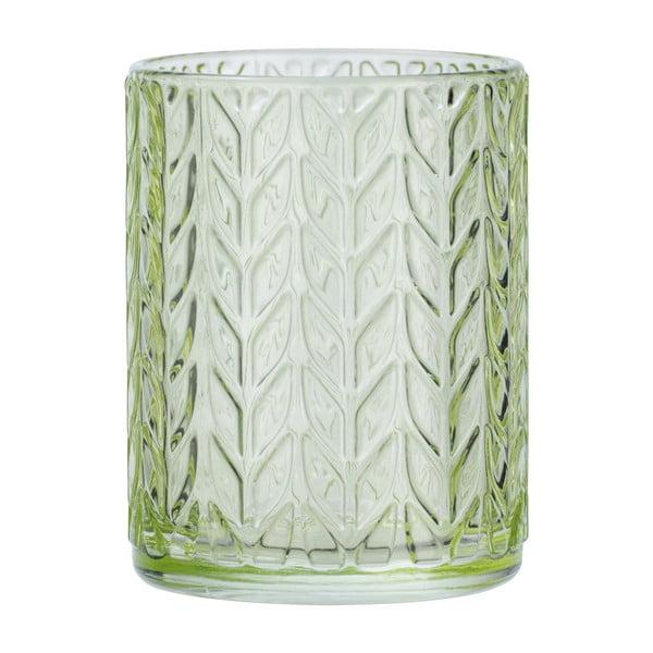 Zielony szklany kubek na szczoteczki Wenko Vetro