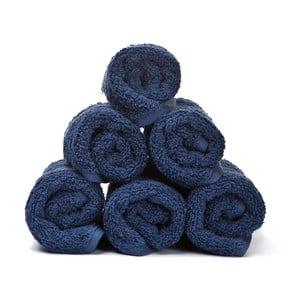 Sada 6 modrých bavlněných ručníků Casa Di Bassi Guest,30x50cm
