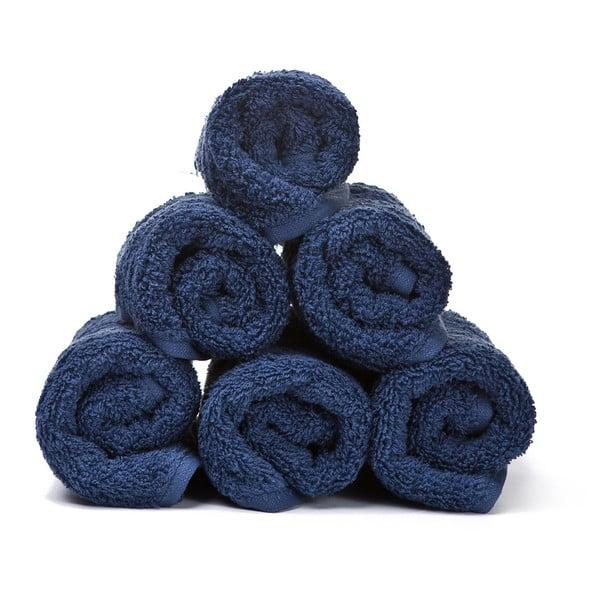 Sada 6 modrých bavlněných ručníků Casa Di Bassi Guest, 30x50cm