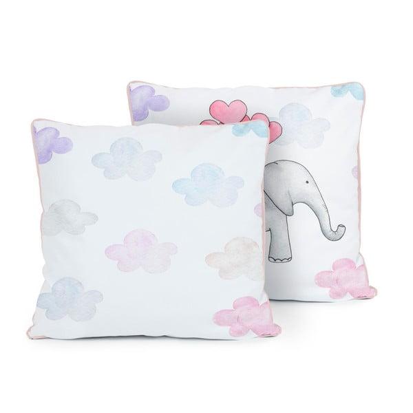 Oboustranný polštář Tanuki Flying Elephant, 50x50cm