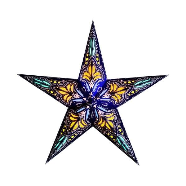 Dekorativní vánoční hvězda Jaipur Blue/Yellow