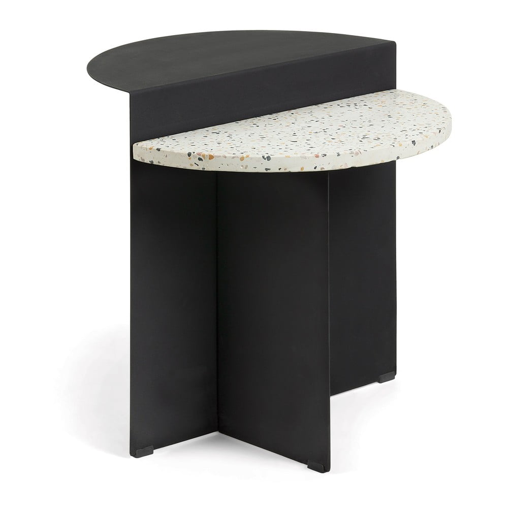 Černý příruční stolek La Forma Cleary