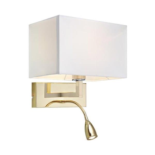 Zlaté nástěnné světlo se čtecím světýlkem Markslöjd Savoy