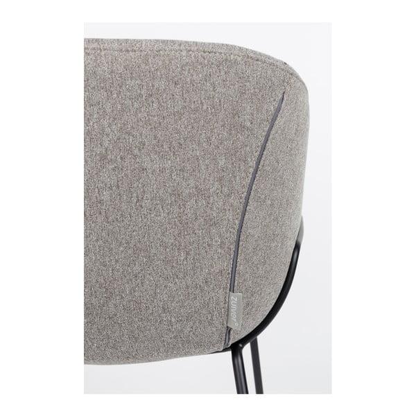 Set 2 scaune bar Zuiver Feston, înălțime scaun 65cm, gri