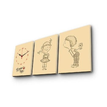 Ceas de perete cu imagine Boy And Girl, 90 x 38 cm de la Unknown