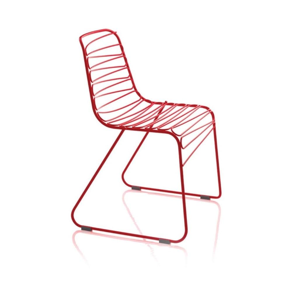 Červená jídelní židle Magis Flux