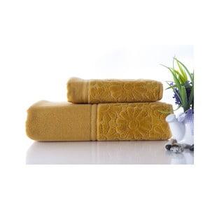 Set dvou ručníků Samba Mustard Color, 70x140 a 50x90 cm