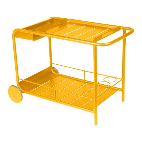 Žlutý servírovací stolek Fermob Luxembourg