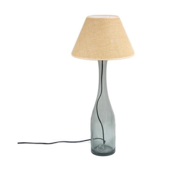 Stolní lampa Glass 70 cm, kouřově modrá