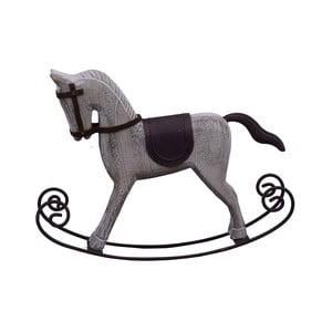 Vánoční dřevěná dekorace ve tvaru houpacího koně Ego dekor, výška22,5cm