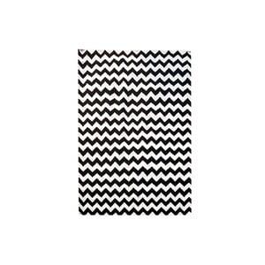Ručně tkaný koberec Kilim Design Two Black, 160x230 cm