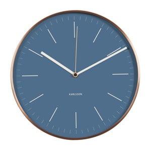 Modré hodiny Present Time Minimal Jeans