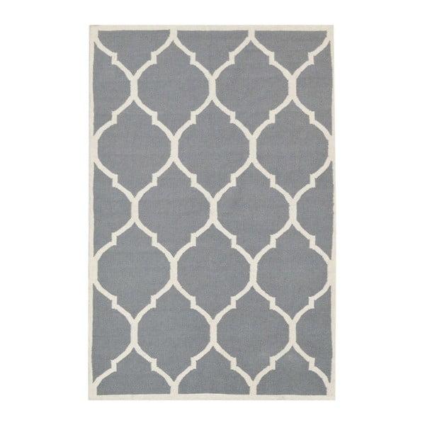 Šedý vlněný koberec Bakero Lara, 120x180 cm
