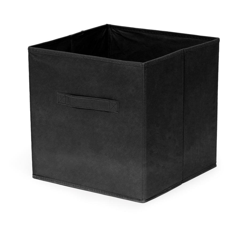 Černý skládatelný úložný box Compactor Foldable Cardboard Box
