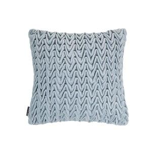 Modrý polštář ZicZac Waves, 45x45cm