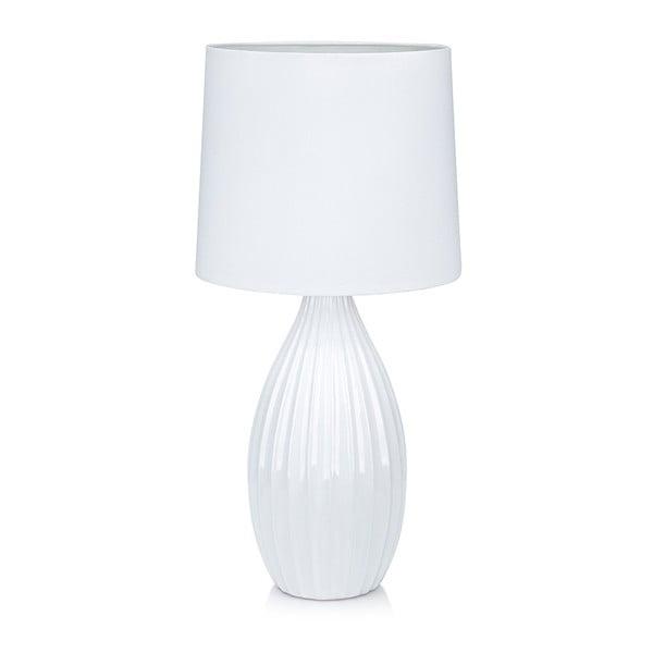 Bílá stolní lampa Markslöjd Stephanie, ø24cm