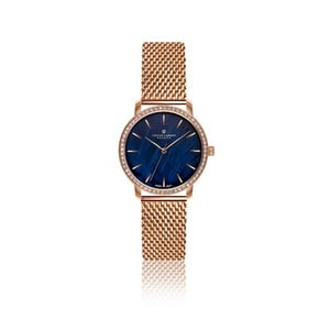 Dámské hodinky s páskem z nerezové oceli v růžovozlaté barvě Frederic Graff Monte Leone