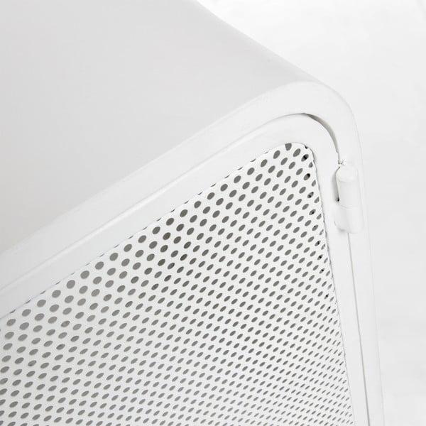 Bílý kovový noční stolek La Forma Wyatt, 42x38cm