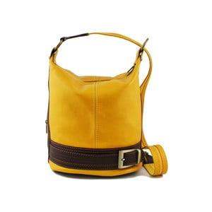 Žlutá kabelka z pravé kůže GIANRO' Melody