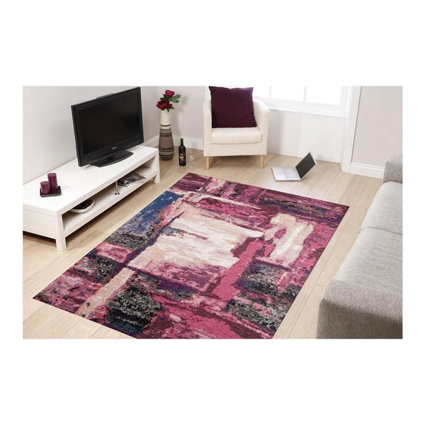 Fialový běhoun Abstract, 300x80 cm