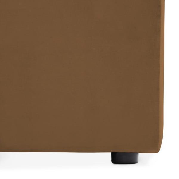 Hnědý prostřední modul pohovky Vivonita Velvet Cube