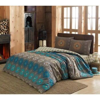 Lenjerie din bumbac și 2 fețe pernă pentru pat dublu Ametist, 200x220cm de la Eponj Home