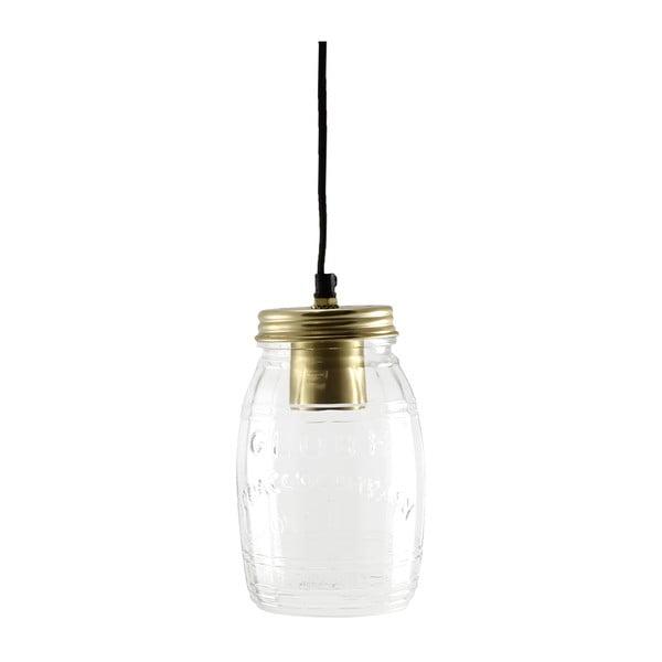Stropní světlo Glass Jar Brass