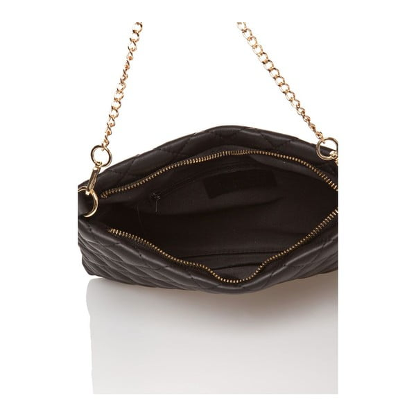 Černá kožená kabelka Edmond Louis Ines