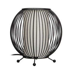 Černá stolní lampa Ixia Carla, ⌀20cm