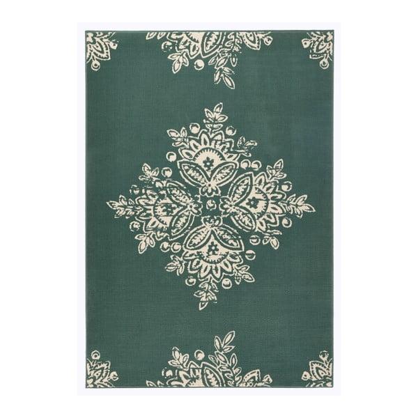 Zelenobílý koberec Hanse Home Gloria Blossom, 80x150cm