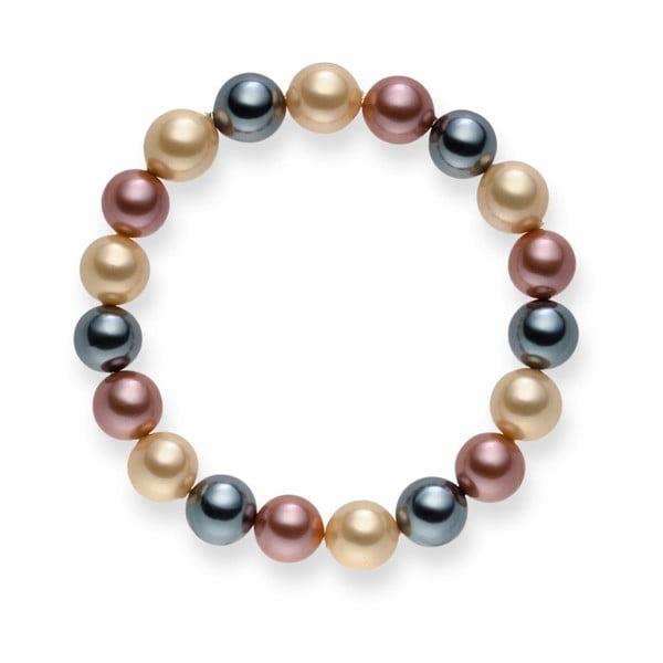 Perlový náramek Nova Pearls Copenhagen Renee Ivory, 19 cm