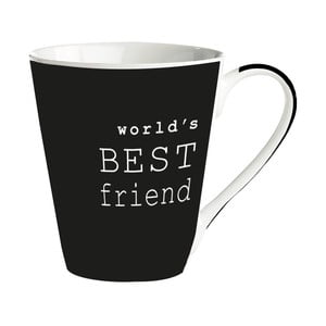 Cană porțelan Galzone World's best friend, negru, 300 ml