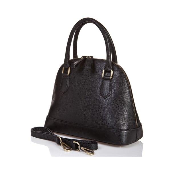 Černá kožená kabelka Massimo Castelli Atanasio