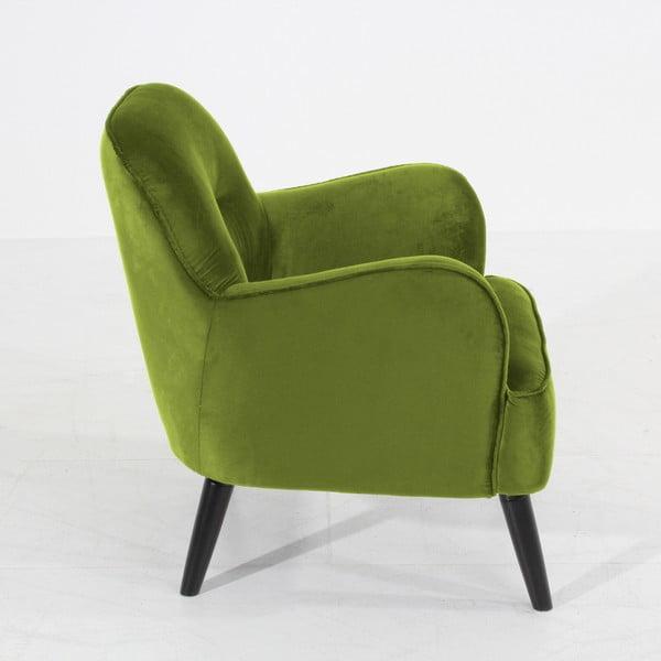 Zelené křeslo Max Winzer Petros