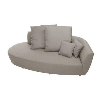 Canapea cu trei locuri Florenzzi Viotti Taupe spătar pe partea dreaptă