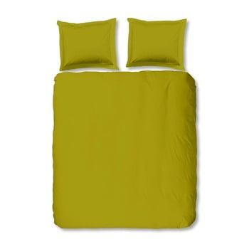 Lenjerie De Pat Din Bumbac Muller Textiels Uni, 200 X 200 Cm, Verde Deschis