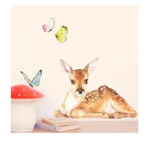 Znovu snímatelná samolepka Little Fawn, 40x30 cm