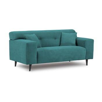 Canapea cu 2 locuri Kooko Home Samba verde turcoaz