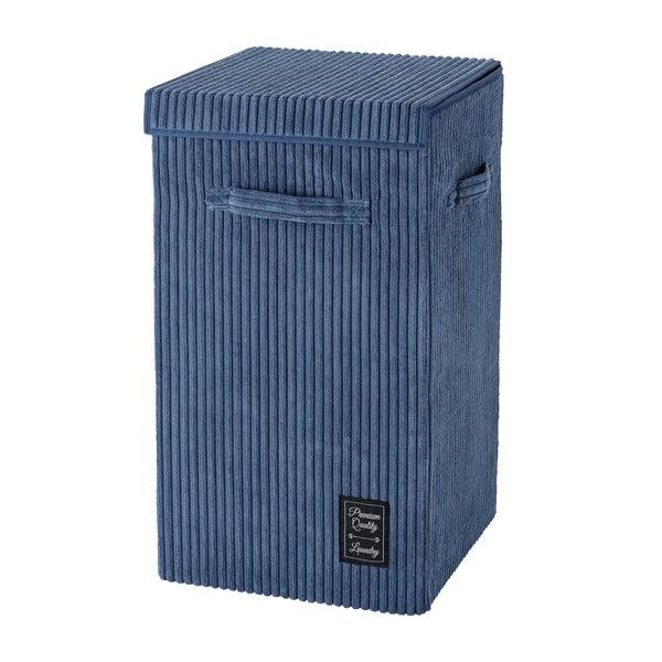 Niebieski kosz na pranie Wenko Cora, obj. 63 l