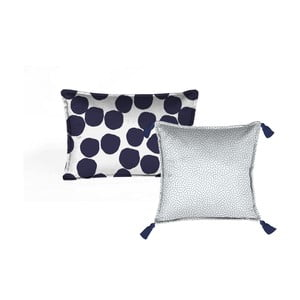 Sada 2 dekorativních polštářů Velvet Atelier Spots, 45 x 45 cm