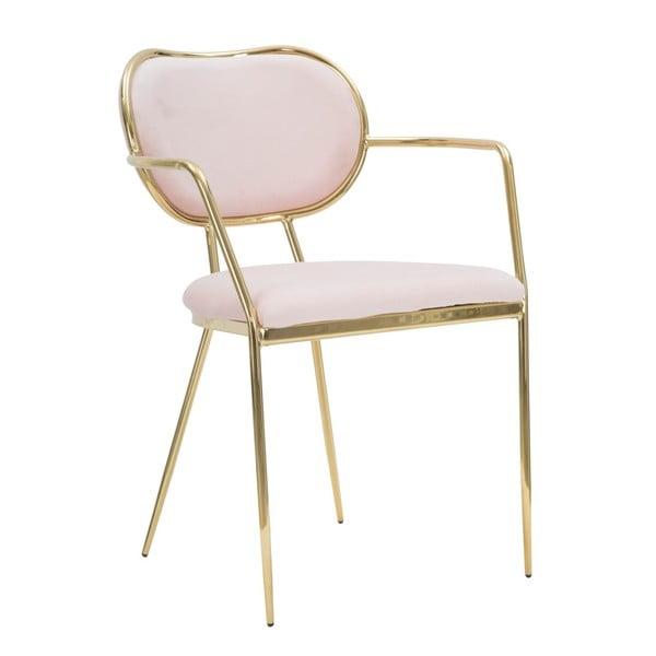 Sada 2 ružových stoličiek so železnou konštrukciou Mauro Ferretti Sedia Glam