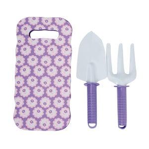 Set fialové dětské podložky s lopatkou a hrabičkami Esschert Design Pattern