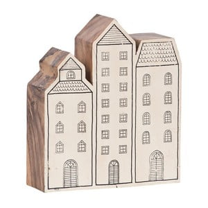 Decorațiune din lemn Vox House, gri