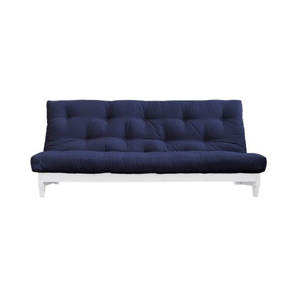 Canapea extensibilă Karup Design Fresh White/Navy, albastru