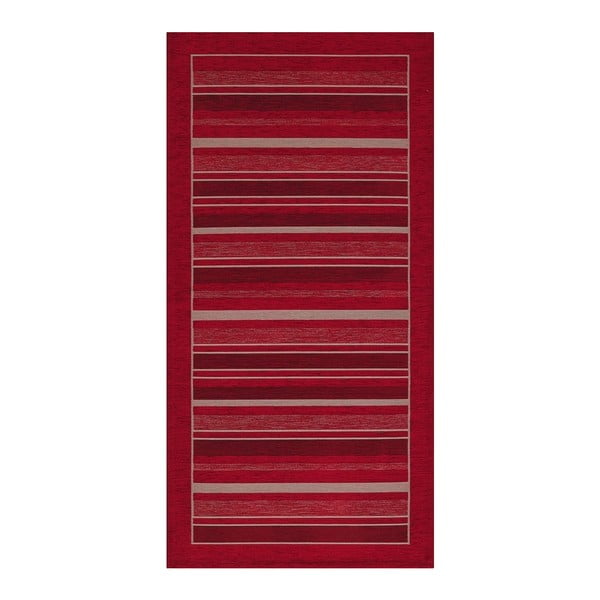 Červený běhoun Floorita Velour, 55 x 190 cm