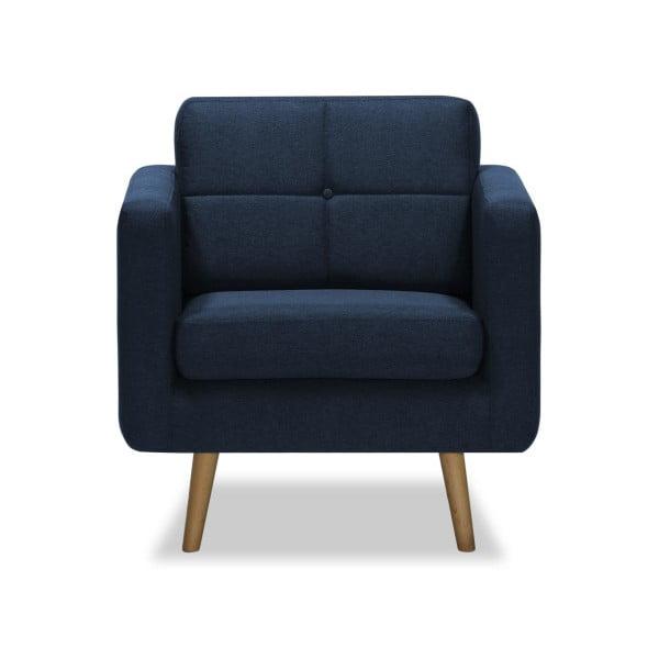 Ciemnoniebieski fotel Vivonita Magnus