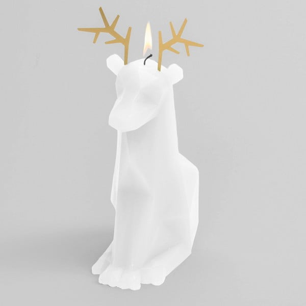 Bílá svíčka Pyropet Dýri