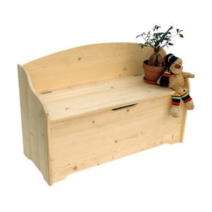 Dřevěná truhla Valdomo Settle, délka100 cm