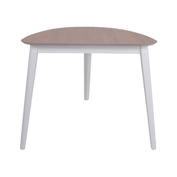 Jídelní stůl z kaučukového dřeva Canett Saga, 80x90cm